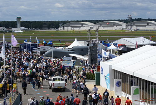 Farnborough Airshow Entrance